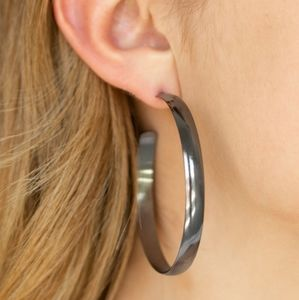 Mix and Match Jewelry Gunmetal Hoops